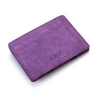 Men's Wallet Frosted PU Creative Magic Wallet Folding 2 Fold Card Holder Card Case Coin Purse Zip