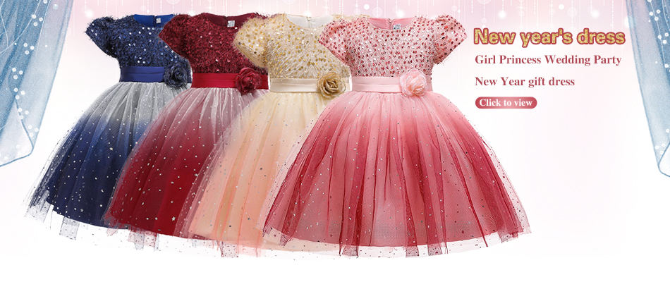 H89a22984667b4ece9a386a659d559535B 2019 Kids Tutu Birthday Princess Party Dress for Girls Infant Lace Children Bridesmaid Elegant Dress for Girl baby Girls Clothes