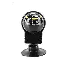 Творческий автомобильный компас присоска шариковая направляющая игла принадлежности для кемпинга пластиковые тактические часы Сфера карта инструмент мини