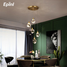 2021 New Luxury Diamond Crystal Copper Chandelier Light Dining Room Bedroom Living Restaurant Lamp Hotel Villa Home Decoration