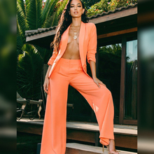 костюм женский Suit Women Blazer Jacket Coat 2019 New Style Orange Colour Trousers + Western Clothes