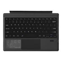 Dokunmatik panelli kablosuz klavye Microsoft/yüzey Pro 7, Ultra ince taşınabilir Bluetooth kablosuz klavye