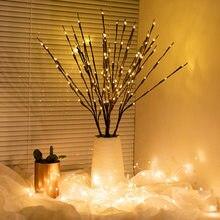1 Uds. De lámpara con diseño de rama de sauce, decoración de boda para el hogar alimentada por batería, rama iluminada de sauce