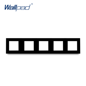 S6 Series Glass Switch and Socket DIY Combination Wall Button Light witch Power Outlet Socket Crystal Black Glass DIY Wallpad 15