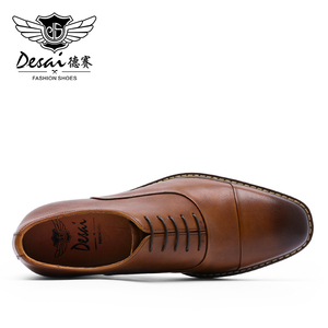 Image 5 - DESAI Brand Italian Handmade Design Vintage Mens Casual Oxford Shoes Formal Luxury Party Wedding Real Genuine Leather Shoes Men