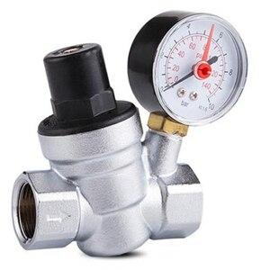 Image 1 - 1/2 zoll Wasser Druckregler mit Manometer Druck Aufrechterhaltung Ventil Tap Wasser Druck Reduzierung Ventil DN15