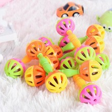 2pcs Baby Rattles Bell High Quality Newborn Gift 0-12 Months Early Educational Development Toy Infant Shakes Hand Bells Rattles cheap Plastic CN(Origin) Unisex EYQ0664 3 years old Geometric Shape NONE Musical 5 5 * 1 57 inches 2*Rattle toy toys kids toys