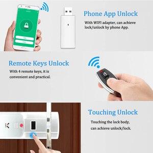 Image 5 - WAFU WF 011W Unsichtbare Keyless Smart Türschloss 433MHz Elektronische Türschloss Unterstützung iOS Android APP WIFI Steuerung Entriegeln