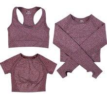 Top de yoga sin costuras para mujer, ropa para entrenar de manga larga, para Fitness, vital, de gimnasio, camiseta de gimnasia atlética, ropa deportiva corta