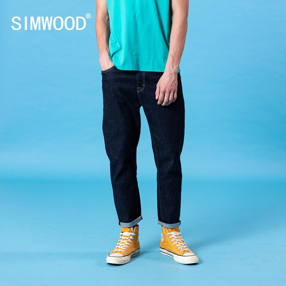 SIMWOOD 2020 Spring Summer new classical jeans men basic comfortable denim trousers plus size brand clothing SJ130403