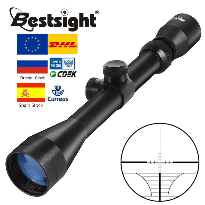 BU 3-9x40 Riflescope ציד היקף צלף הצבאים רובה ציד סקופס Airgun רובה חיצוני Reticle Sight היקף
