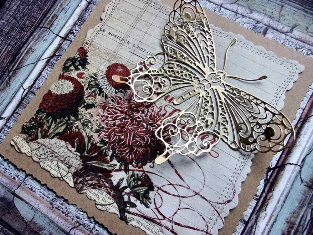 Kljuyp borboleta metal corte dados scrapbook papel artesanato decoração dados scrapbooking