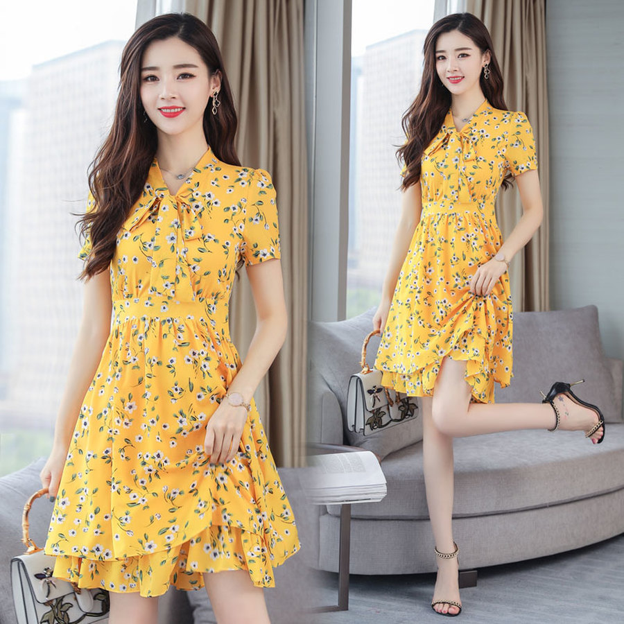 2019 Vintage 3XL Plus Size Pink Print Beach Dresses Summer New Chiffon Boho Mini Sundress Women Bodycon Elegant Party Vestidos