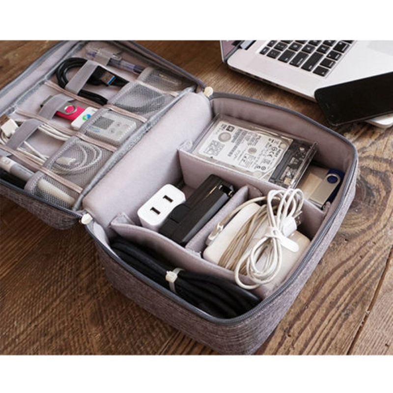 Waterproof Travel Storage Bag Electronics USB Charger Case Data Cable Organizer Business Trip Cosmetic Toiletries Container