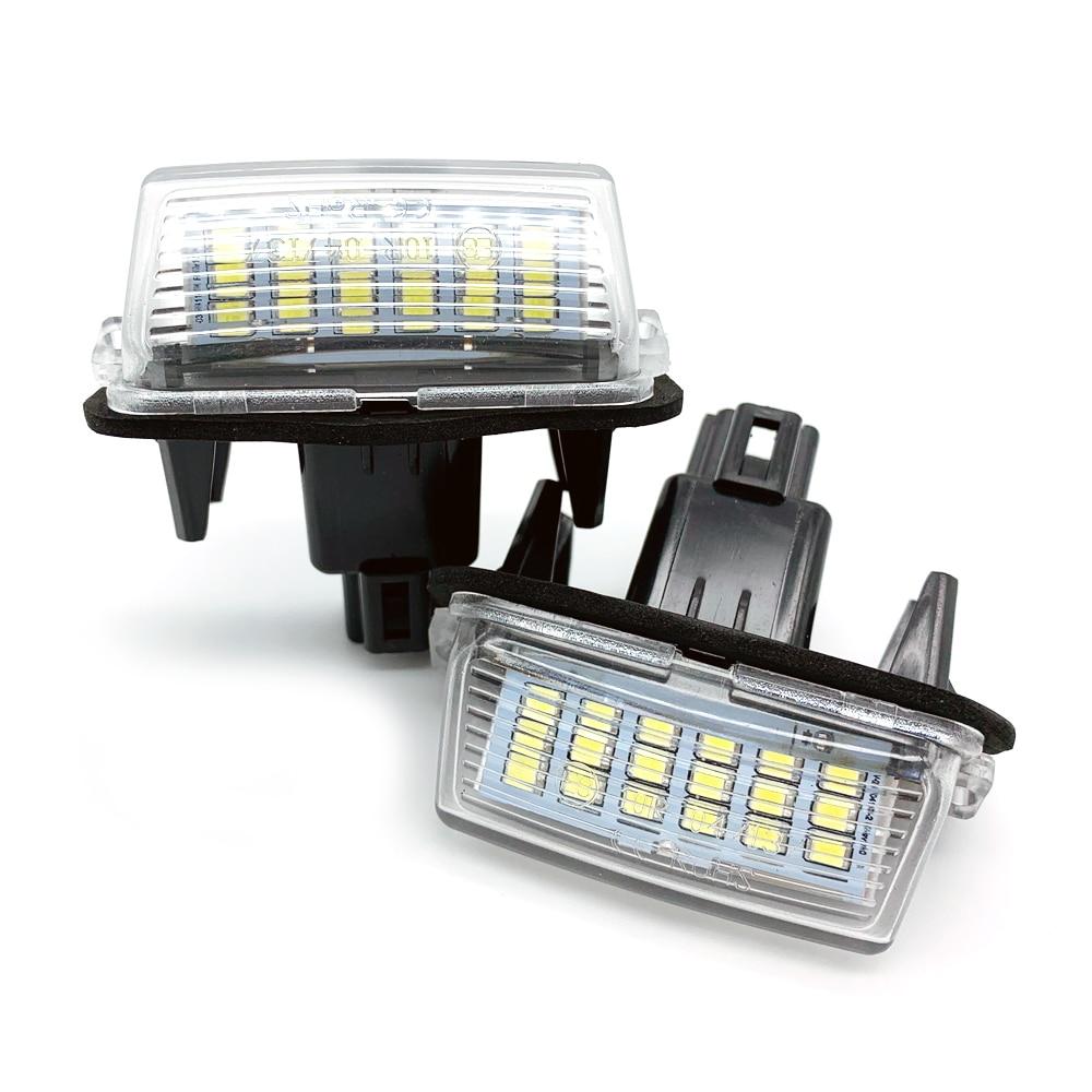 Car LED Number License Plate Lights For Toyota Camry 50 LED Number Fit For Peugeot Citroen 206 207 306 307 406 407 C3 FOR Yaris