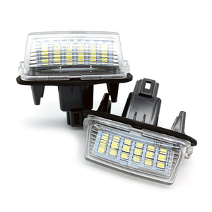 Car LED number License Plate Lights For Toyota Camry 50 LED Number fit For Peugeot Citroen 206 207 306 307 406 407 C3 FOR yaris(China)