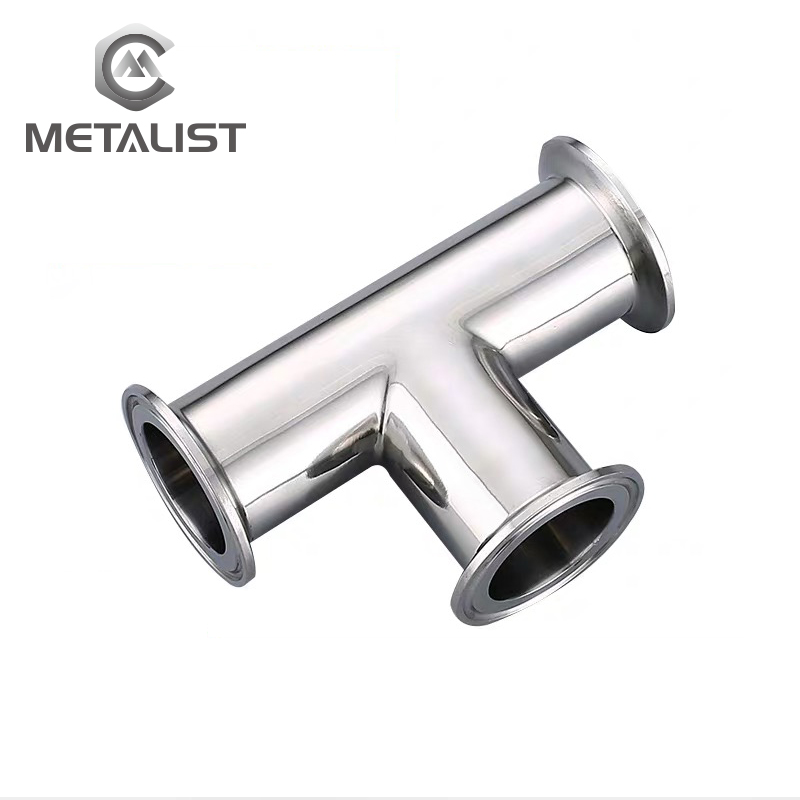 METALIST  OD 45mm/51mm Stainless Steel SS304 Sanitary 3 Way Tee Ferrule OD 64MM Fit 2