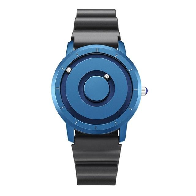 EUTOUR New Innovative Blue Gold Magnetic Metal Multifunctional Watch Men's Fashion Sports Quartz Watch Simple Men's Watch 21