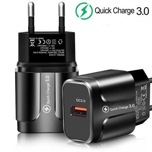 Carga rápida 3.0 18W QC 3.0 4.0 Rápido carregador USB de Carregamento Do Carregador Do Telefone Móvel portátil Para o iphone 7 8 mais X XR XS Max Samsung