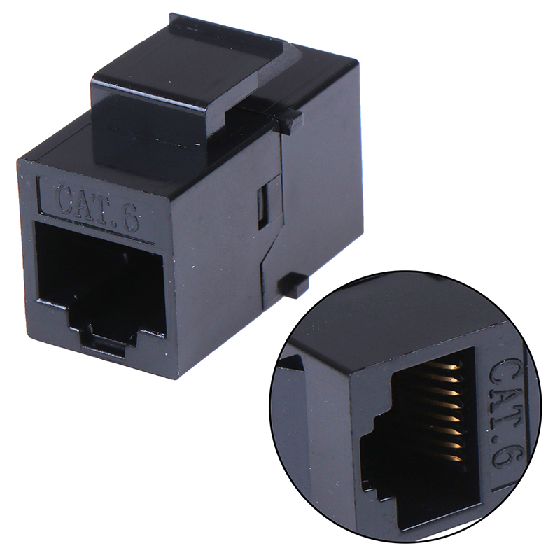 1 Pcs RJ45 Female To UTP Cat5e CAT6 Keystone Jack Inline Coupler Connector Adapter