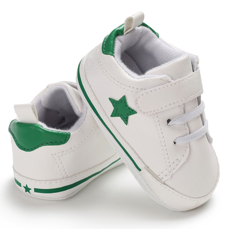 Pu Leather Star Pattern Baby Sports Sneakers Infant Toddler Soft Anti-slip Baby Shoes Newborn Baby Boys Girls First Walkers