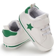 Pu Leather Star Pattern Baby Sports Sneakers Infant Toddler Soft Anti-slip