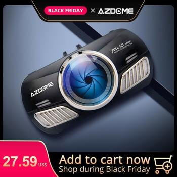 AZDOME M11 Dash Cam 3 pouces 2.5D IPS écran complet HD1080P voiture caméra DVR double lentille Vision nocturne 24H moniteur de stationnement Dashcam GPS