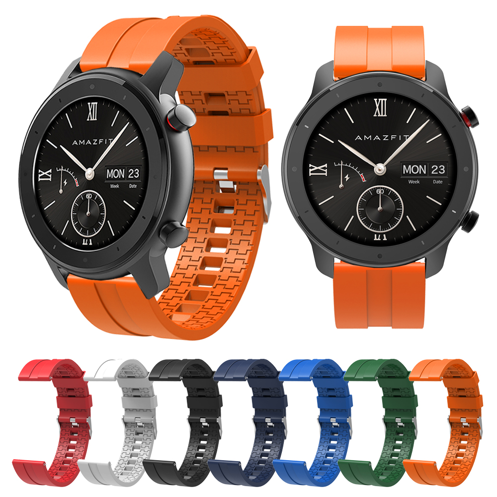 Watchband For Huami Amazfit Stratos 3 GTR 47mm 42mm Silicone Strap Band Bracelet for Amazfit GTR Lite Smart Watch Accessories