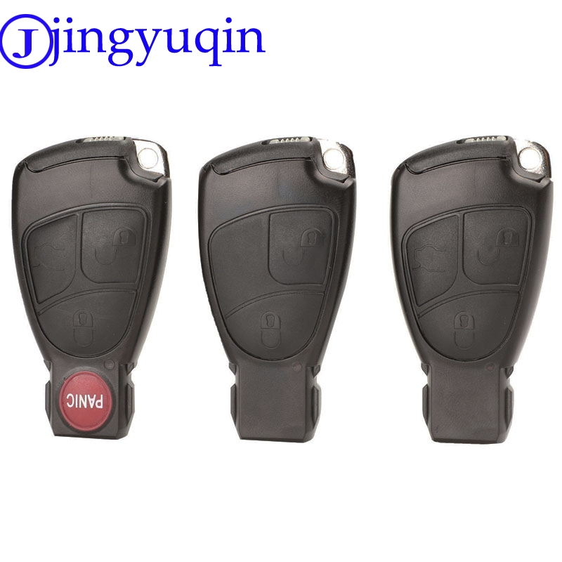 Jingyuqin Replacements 2/3/4 Buttons Remote Car Key Fob Case Cover Shell For Mercedes Benz B C E ML S CLK CL Smart Key