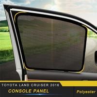 For Toyota Land Cruiser 200 2016 2018 Car Sun Shade UV Protection Magnet Curtain Window Sunshade Side Mesh Visor Summer