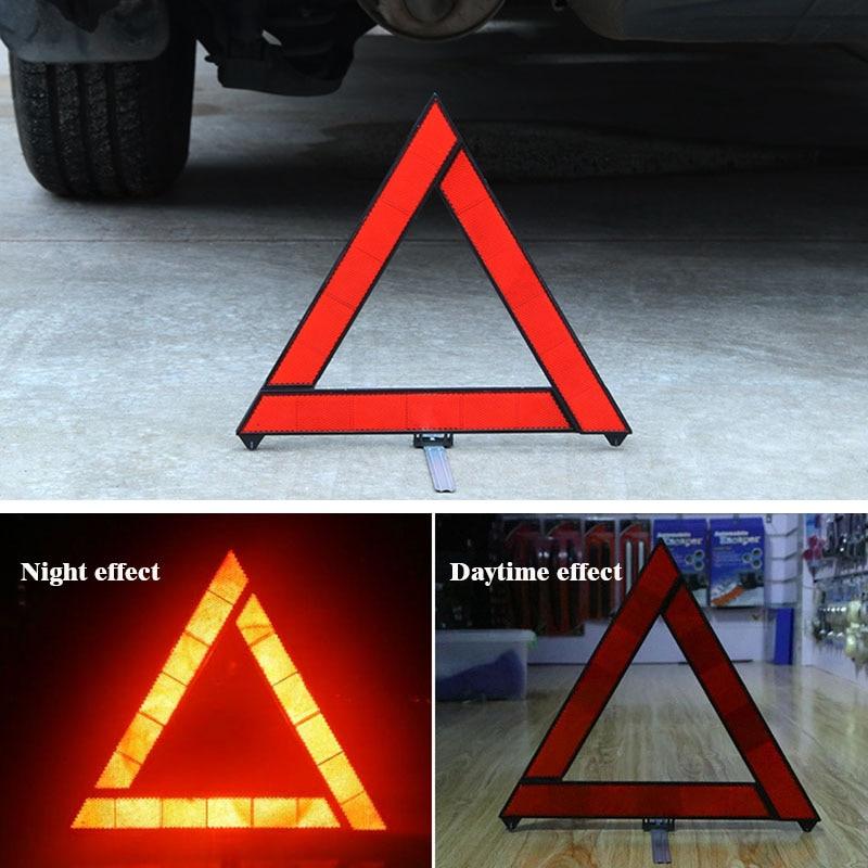 30cm carro dobrável reflexivo tripé de emergência divisão aviso triângulo noite estrada segurança aviso tripé reflexivo acessórios
