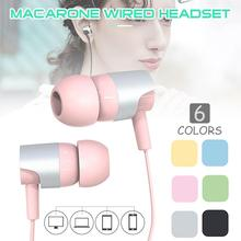 Candy colors Wired  Earphone Bass Stereo Earbuds Sports Waterproof 3.5mm Music Headsets with microphone