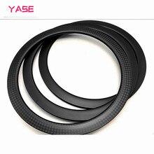 цена на 50x27mm Disc brake Full carbon 700c road bicycle carbon disc rim bike disc rims asymmetry tubeless hookless road bike 카본림
