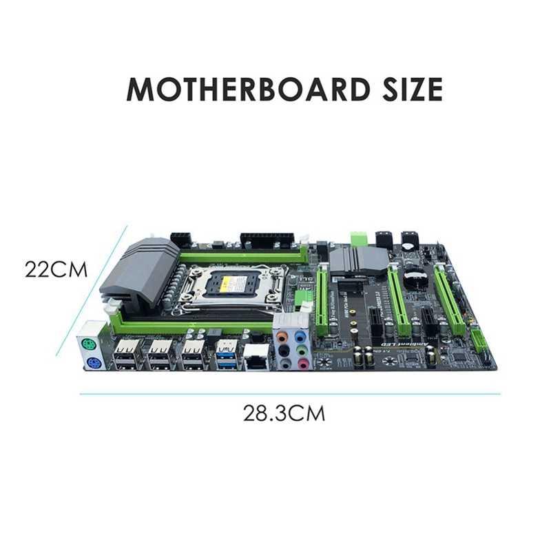 X79T Ddr3 Pc デスクトップマザーボード Lga 2011 Cpu コンピュータ 4 チャンネルゲームのサポート M.2 E5-2680V2 I7 Sata 3.0 Usb 3.0 インテル B