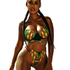 Underwired High Waist Bikini Set Push Up Swimsuit 2019 High Waisted Bathing Suit African Print Swimming Suit For Women Bikinis