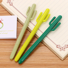 Pen Kawaii Stationery Cactus-Gel Black Ink Green Student Writing-0.5mm Office-Supplies