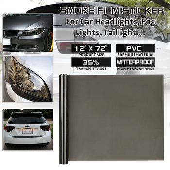 35% Medium Smoke Car Light Sticker Lamp Film Sticker Tint Headlight Taillight Fog Light Vinyl Smoke Film Sheet Sticker black car headlight light vinyl film sticker taillight fog lamp tint vinyl wrap smoke film sheet sticker hot sale australia etc