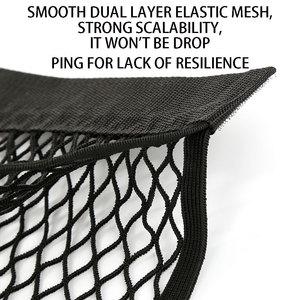 Image 3 - Grid Pocket Holder Car Accessories Trunk Storage Bag Mesh Net Auto Styling Luggage Sticker Interior Organizer Stuff  Netting Net