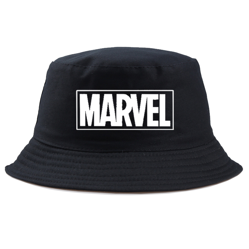 Marvel Comics Avengers Bucket Hat Men Women Fashion Fisherman Cap Summer Casual Cotton Panama Unisex Hunting Fishing Hats Boy