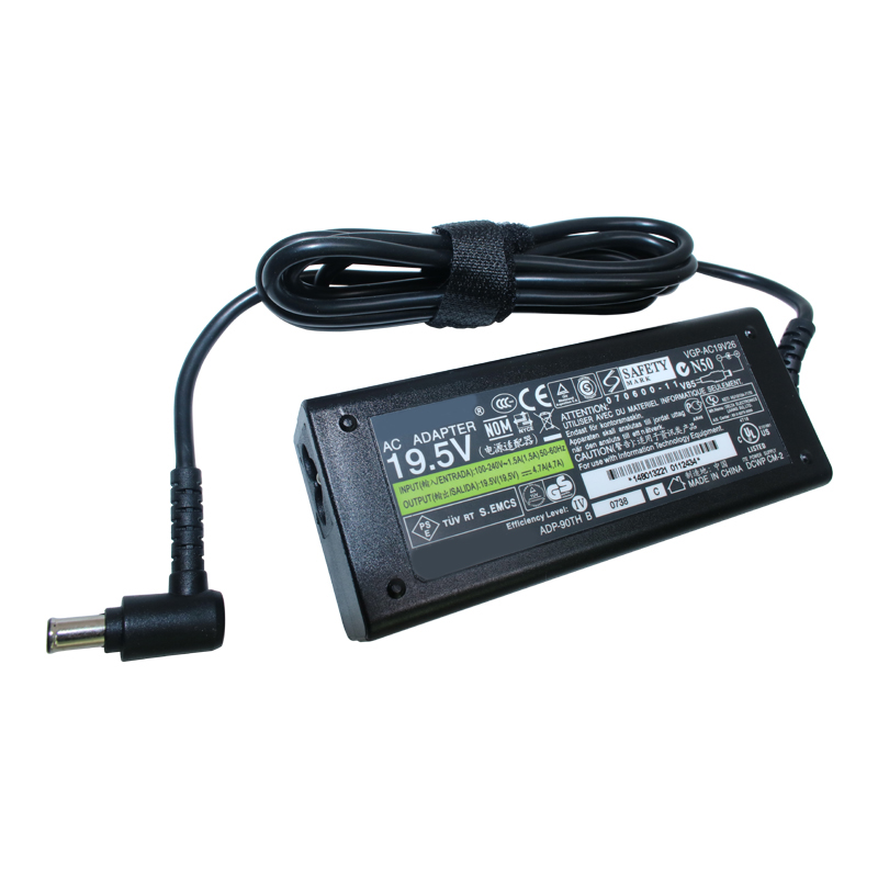 Genuine Original 90W 19.5V Laptop AC Adapter Charger For Sony Vaio VGP-AC19V25 VGP-AC19V26 VGP-AC19V27