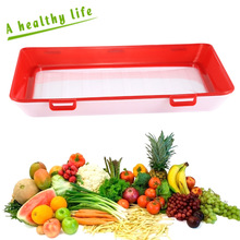 1PC Tray Food Plastic Preservation Kitchen Tools Healthy Storage Container XHC88