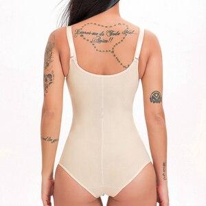 Image 4 - Lateks bel şekillendirme popo kaldırıcı karın kontrol iç çamaşırı şekillendirme yelek zayıflama Shapewear Bodysuit tam vücut şekillendirici klip Zip