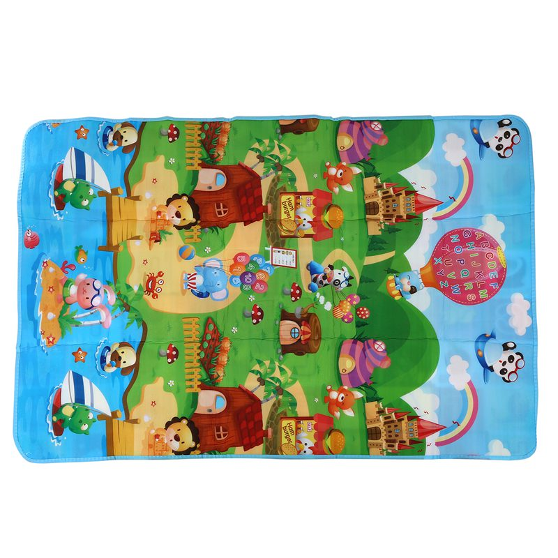 Baby Play Mat 180x120x0.5cm Crawling Mat Double Surface Baby Carpet Rug Animal Car+Dinosaur Developing Mat For Children Game Pad