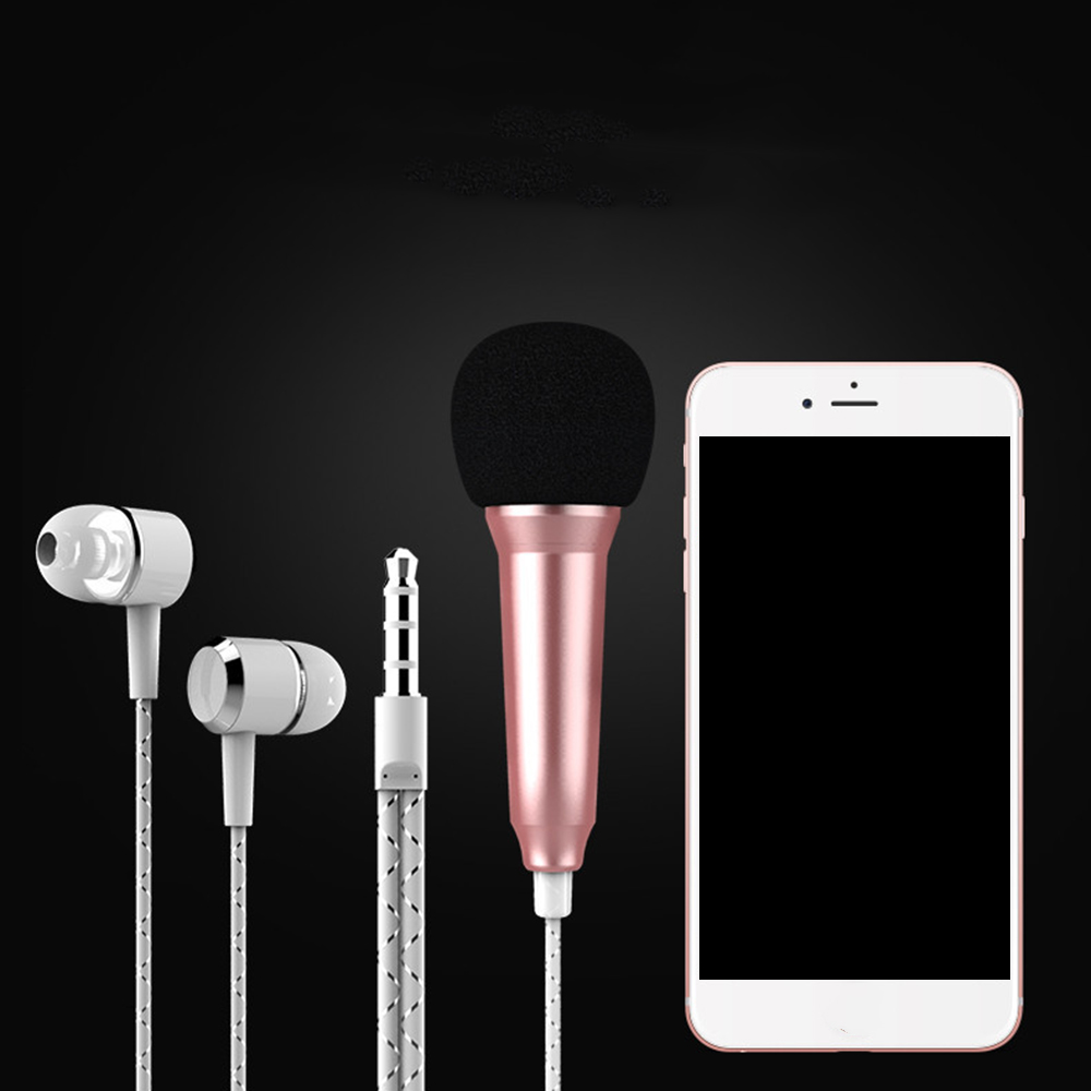 Live Phone Universal Wired Microphone Small Microphone Mini Capacitor Wheat Headset In-ear For Tik Tok For IPhone 11 Samsung P30