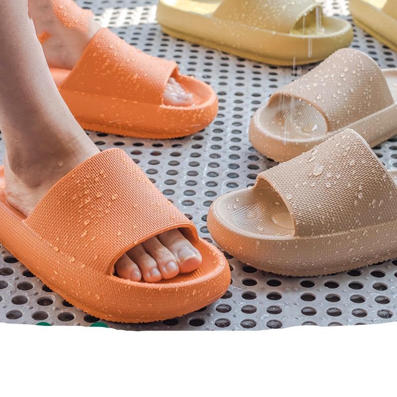 Kobiety grube sandały na platformie Summer Beach Eva miękkie podeszwy sandały wsuwane wypoczynek mężczyźni panie kryty łazienka antypoślizgowe buty