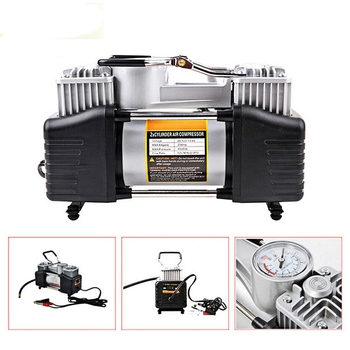 12V 150PSI Portable Heavy Duty Dual Cylinder Air Pump Air Compressor Tire Inflator For Car Truck Air Compressor Tire Inflator