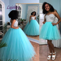 Mint Green Luxury Quinceanera Dresses Ball Gown Plus Size Masquerade Detachable Skirt 15 year old Sixteen Sweet 16 Prom Dress