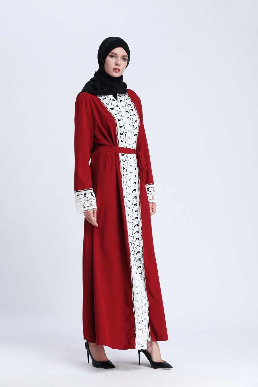 מזדמן מוסלמי העבאיה פסים שמלת צעיף קרדיגן ארוך גלימות קימונו הרמדאן מזרח התיכון Thobe פולחן שירות בגדים אסלאמיים