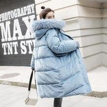 冬のジャケットの女性厚く暖かい長綿のコートパーカー女性特大フード付き毛皮の襟レディース冬コート Q1821