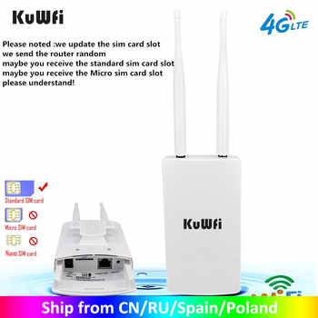 KuWFi Waterproof Outdoor 4G CPE Router 150Mbps CAT4 LTE Routers 3G/4G SIM Card WiFi Router for IP Camera/Outside WiFi Coverage - DISCOUNT ITEM  67 OFF Computer & Office